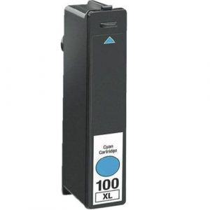 Compatible Lexmark 100XLC (14N1069AAN) Cyan High Yield ink cartridge - 600 pages