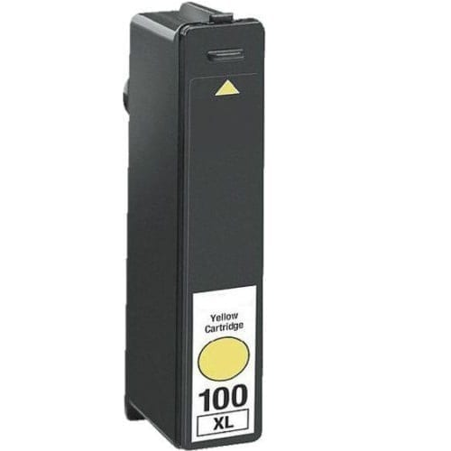 Compatible Lexmark 100XLY (14N1071AAN) Yellow High Yield ink cartridge - 600 pages
