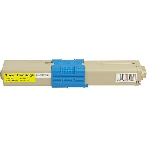 Compatible Oki 44973545 Yellow toner cartridge - 1,500 pages