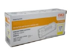 Genuine OKI 46490609 Yellow toner cartridge - 6,000 pages