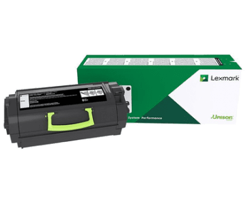 Genuine Lexmark 52D3000 (523) Black toner cartridge - 6,000 pages