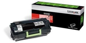 Genuine Lexmark 52D3H00 (523H) Black High Yield toner cartridge - 25,000 pages