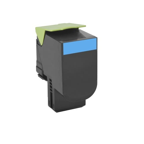 Compatible Lexmark 70C8HC0 (708H) Cyan High Yield toner cartridge - 3,000 pages