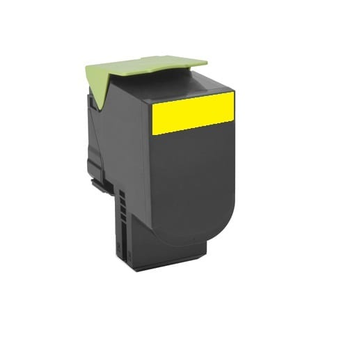Compatible Lexmark 80C8SY0 (808S) Yellow toner cartridge - 2,000 pages