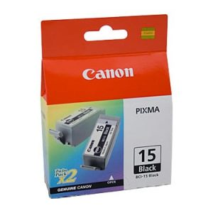 Genuine Canon BCI-15 Black ink cartridge 2pk - 150 pages