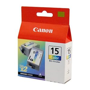 Genuine Canon BCI-15 Colour ink cartridge 2pk - 100 pages