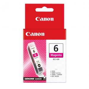Genuine Canon BCI-6 Magenta ink cartridge - 100 pages