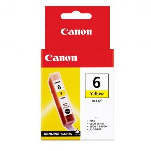 Genuine Canon BCI-6 Yellow ink cartridge - 100 pages
