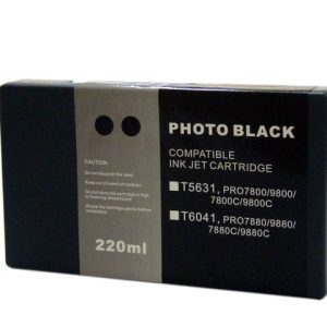 Compatible Epson T5631 Wide Format Photo Black ink cartridge - 855 pages