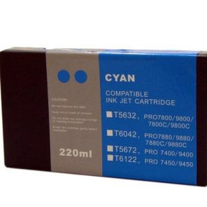 Compatible Epson T5632 Wide Format Cyan ink cartridge - 855 pages
