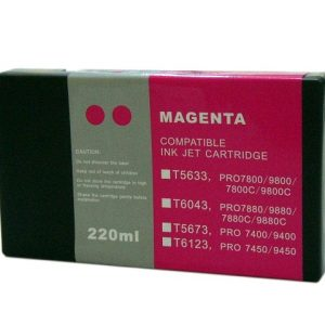 Compatible Epson T5633 Wide Format Magenta ink cartridge - 855 pages