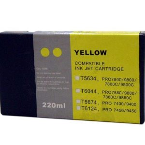 Compatible Epson T5634 Wide Format Yellow ink cartridge - 855 pages