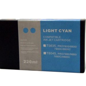 Compatible Epson T5635 Wide Format Light Cyan ink cartridge - 855 pages