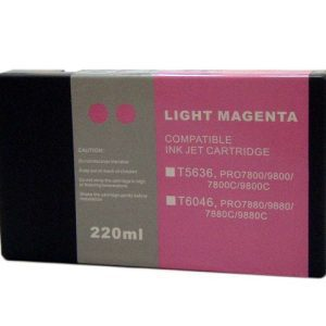 Compatible Epson T5636 Wide Format Light Magenta ink cartridge - 855 pages