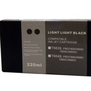Compatible Epson T5639 Wide Format Light Light Black ink cartridge - 855 pages