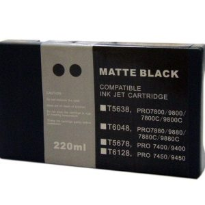 Compatible Epson T5678 Wide Format Matte Black ink cartridge - 855 pages