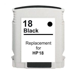 Compatible HP 18 (C4936A) Black ink cartridge - 850 pages