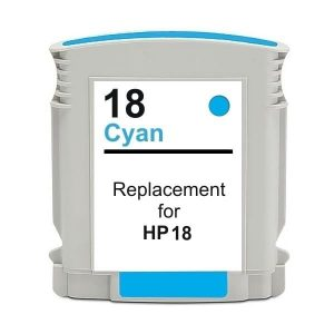 Compatible HP 18 (C4937A) Cyan ink cartridge - 900 pages