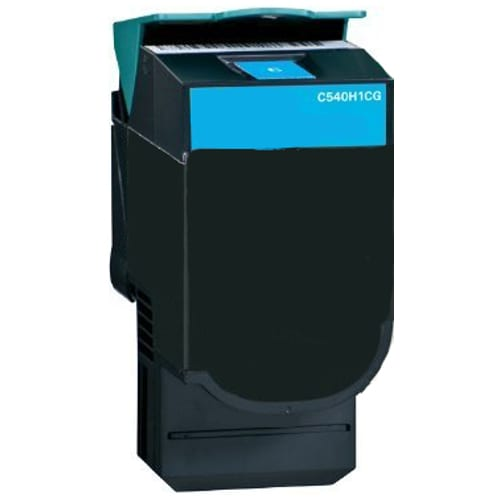 Compatible Lexmark C540H1CG (C540) Cyan High Yield toner cartridge - 2,000 pages