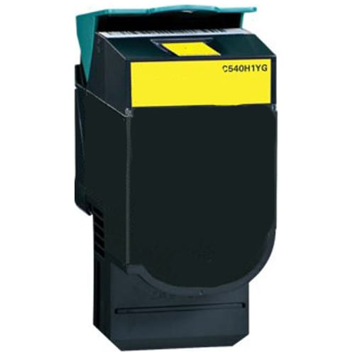 Compatible Lexmark C540H1YG (C540) Yellow High Yield toner cartridge - 2,000 pages