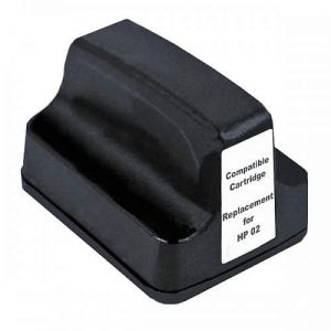 Compatible HP 02 (C8721WA) Black ink cartridge - 480 pages