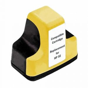 Compatible HP 02 (C8773WA) Yellow ink cartridge - 350 pages