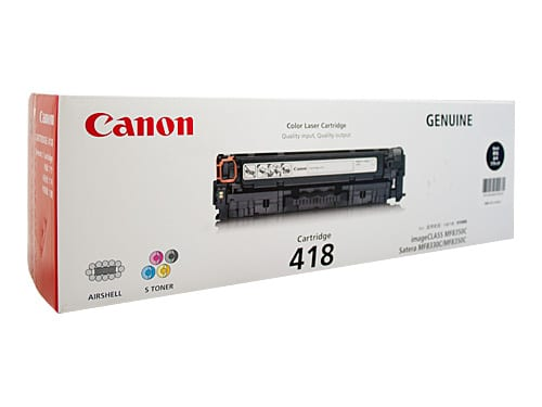 Genuine Canon CART-418 Black toner cartridge - 3,400 pages