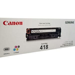 Genuine Canon CART-418 Cyan toner cartridge - 2,900 pages
