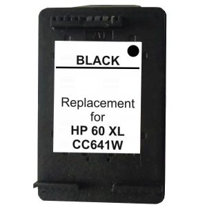 Compatible HP 60XL (CC641WA) Black High Yield ink cartridge - 600 pages