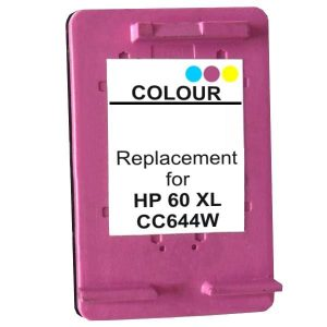 Compatible HP 60XL (CC644WA) Colour High Yield ink cartridge - 440 pages