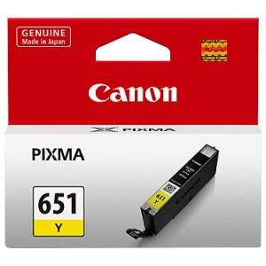 Genuine CanonCLI-651 Yellow ink cartridge - 280 pages