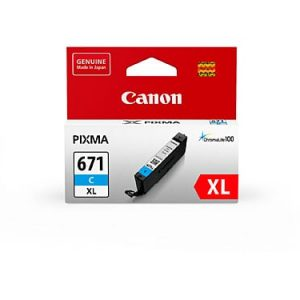 Genuine Canon CLI-671XL Cyan ink cartridge - 450 pages