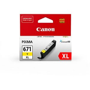 Genuine Canon CLI-671XL Yellow ink cartridge - 450 pages