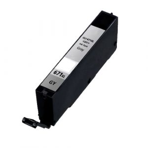 Compatible Canon CLI-671XL Grey ink cartridge - 650 pages
