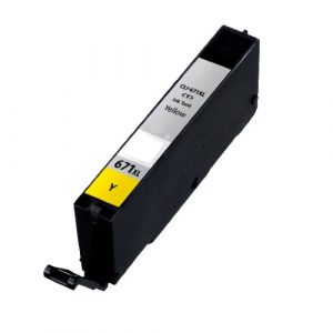 Compatible Canon CLI-671XL Yellow ink cartridge - 650 pages
