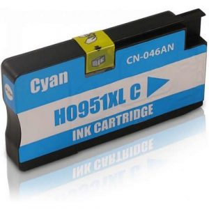 Compatible HP 951XL (CN046AA) Cyan High Yield ink cartridge - 1,500 pages