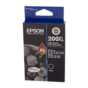 Genuine Epson 200XL Black High Yield ink cartridge - 500 pages