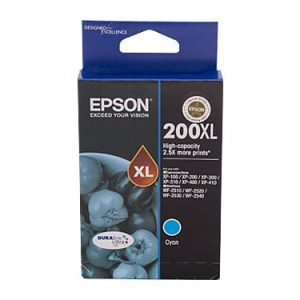 Genuine Epson 200XL Cyan High Yield ink cartridge - 450 pages