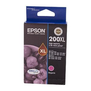 Genuine Epson 200XL Magenta High Yield ink cartridge - 450 pages