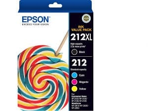 Genuine Epson 212 Value Pack 4pk (B,C,M,Y)  ink cartridge - see singles for yield