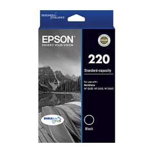Genuine Epson 220 Black ink cartridge - 165 pages
