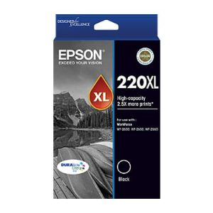 Genuine Epson 220XL Black High Yield ink cartridge cartrodge - 500 pages