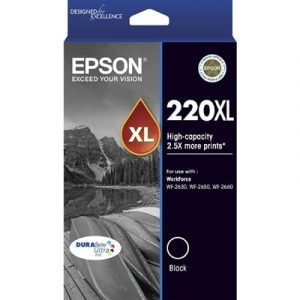 Genuine Epson 220XL Black High Yield ink cartridge 2pk - 500 pages ech