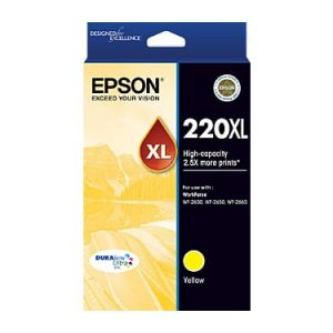 Genuine Epson 220XL Yellow High Yield ink cartridge - 450 pages