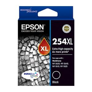 Genuine Epson 252XL Black High Yield ink cartridge - 1,100 pages