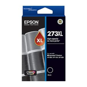 Genuine Epson 273XL Black High Yield ink cartridge - 500 pages
