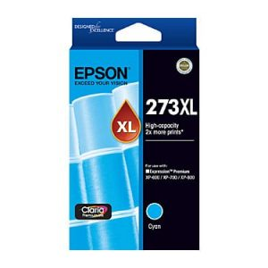 Genuine Epson 273XL Cyan High Yield ink cartridge - 650 pages