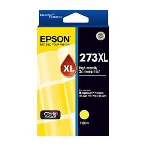 Genuine Epson 273XL Yellow High Yield ink cartridge - 650 pages