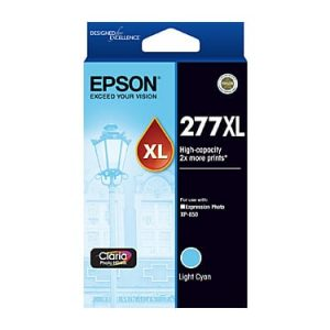 Genuine Epson 277XL Light Cyan High Yield ink cartridge - 740 pages