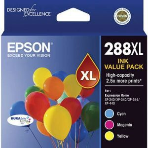 Genuine Epson 288XL Value Pack 3pk (C,M,Y) High Yield ink cartridge - see singles for yield